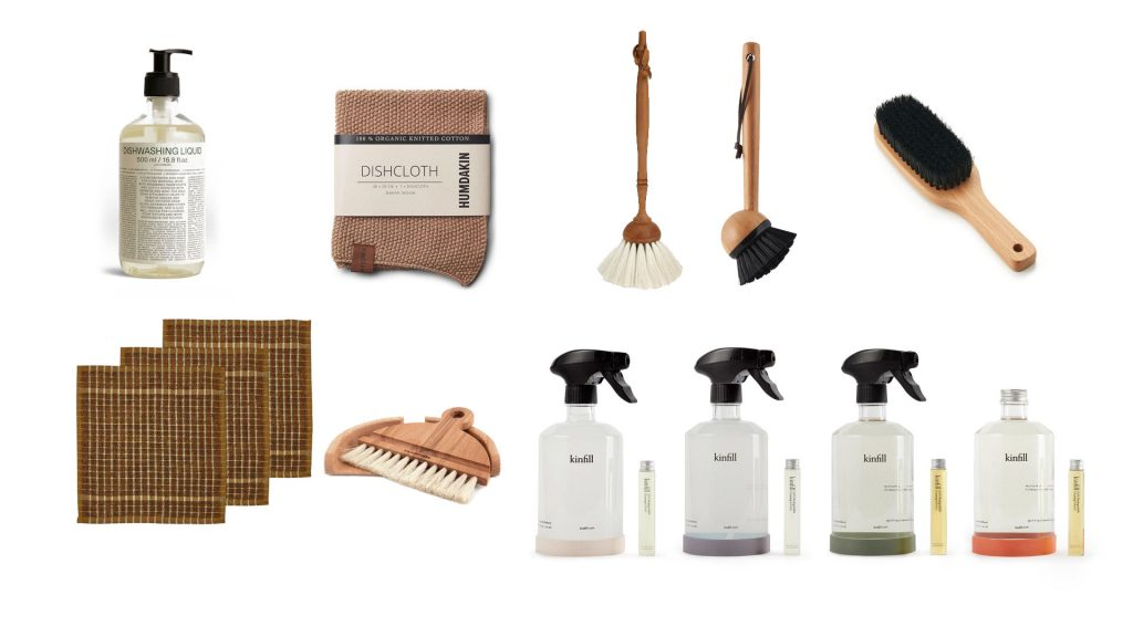 Essentials cleaning products and tools